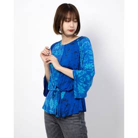 Tシャツ3/4袖 (ブルー)