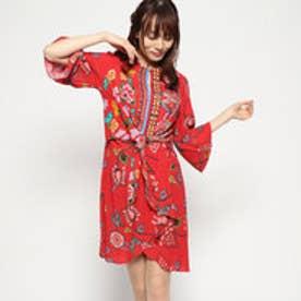 ドレス長袖 (ピンク/レッド)