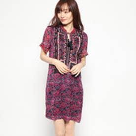 ドレスショート袖 (ピンク/レッド)