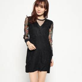 ドレス長袖 (グレー/ブラック)
