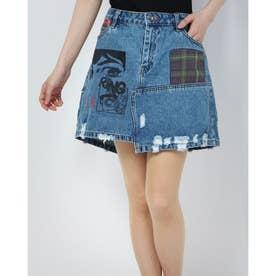 デニムスカートショート COMIC (ブルー)