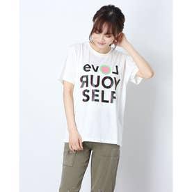 Tシャツ半袖 LOVE YOUR SELF (ホワイト)