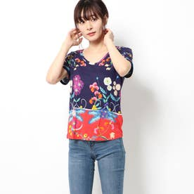 Tシャツ半袖 TROPIC INDIA (ブルー)
