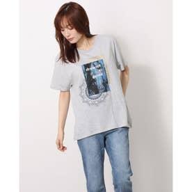 Tシャツ半袖 CHANTAL (グレー/ブラック)