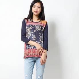 Tシャツ3/4袖 GRANADA (ピンク/レッド)