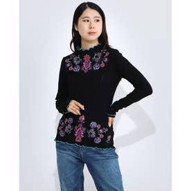Tシャツ長袖 LAUREN (グレー/ブラック)