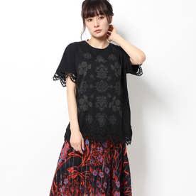 Tシャツ半袖 GANTE (グレー/ブラック)