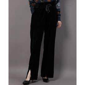 長パンツ PANT PINTUCK solid color black (グレー/ブラック)