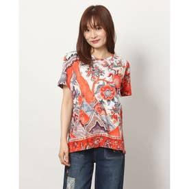 Tシャツ半袖 SELMARIS (ピンク/レッド)