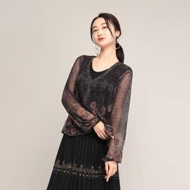 Tシャツ長袖 MAGDA (グレー/ブラック)