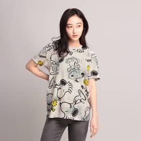 Tシャツ半袖 SNOOPY (グレー/ブラック)