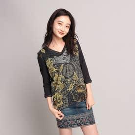 Tシャツ3/4袖 IDAHO (ブルー)