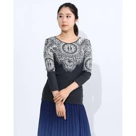 Tシャツ3/4袖 MICHIGAN (グレー/ブラック)