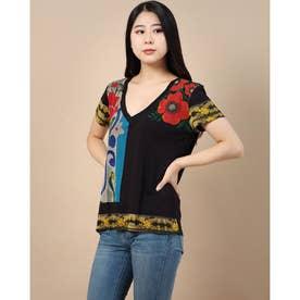 Tシャツ半袖 MONTANA (グレー/ブラック)