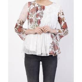 Tシャツ3/4袖 SHEILA (ホワイト)