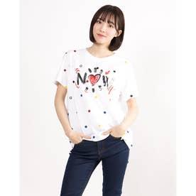Tシャツ半袖 NOW (ホワイト)