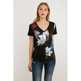 Tシャツ半袖 MINNIE (グレー/ブラック)