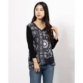 Tシャツ3/4袖 VARSOVIA (グレー/ブラック)