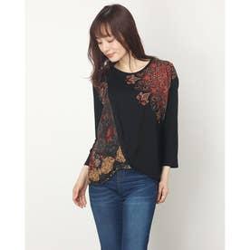 Tシャツ3/4袖 OPORTO (グレー/ブラック)