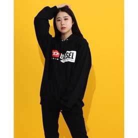 ロゴプリントスウェットフーディー (BLACK)F-ANG-HOOD-CUTY SWEAT-SHIRT