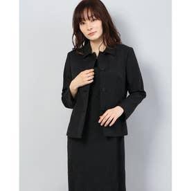 チェルッティ社 透かしジャカード ジャケット (ブラック)