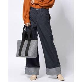 マフウールデニム裾ダブルワイドパンツ70 (ネイビーケイ)