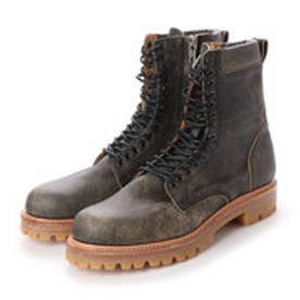 CREOLE (Lace-Up Boots) (BLACK-CRACK)