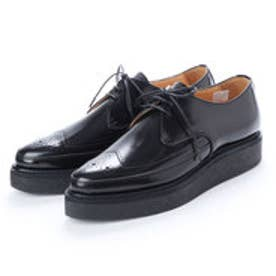 REE (Pointed Toe Rubber Sole Shoes) (BLACK)