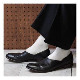 CHET (Washed Side Slit Shoes) (BLACK)