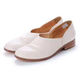 CHET (Washed Side Slit Shoes) (WHITE)