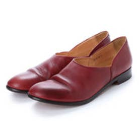 CHET (Washed Side Slit Shoes) (RED BROWN)