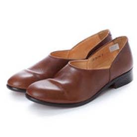 CHET (Washed Side Slit Shoes) (DARK BROWN)