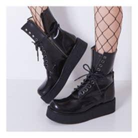 GHERCI (10 Eye Rubber Sole Boots) (BLACK)