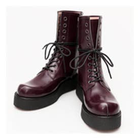 GHERCI (10 Eye Rubber Sole Boots) (WINE RED)