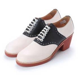 SUZY (Chunky Heels Saddle Oxford Shoes) (BLACK-COMBI)