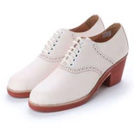 SUZY (Chunky Heels Saddle Oxford Shoes) (WHITE)