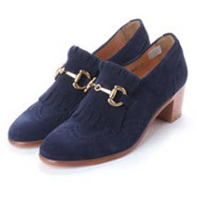 FLORENCE (Chunky Heels Bit Loafers) (NAVY)