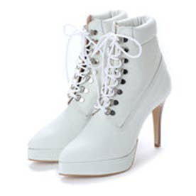 BEY (Pin Heels Work Boots) (WHITE)