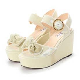 OLIVIA (Platform Sandals) (WHITE)