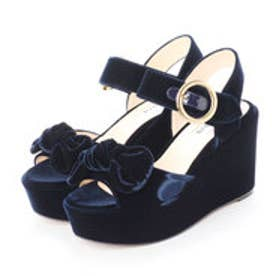 OLIVIA (Platform Sandals) (NAVY)