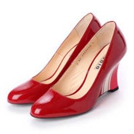 THERESA (Guitar Painted Wedge Heel Pumps) (RED)