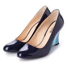 THERESA (Guitar Painted Wedge Heel Pumps) (BLUE)