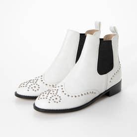 ブーツ (白カーフ)