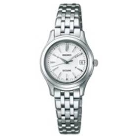 SEIKO エクセリーヌ ソーラー電波修正 サファイアガラス スーパークリア コーティング ユニセックス 腕時計 SWCW023【返品不可商品】