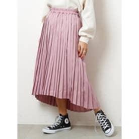 イレヘムプリーツスカート ピンク