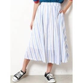 マルチストライプスカート ブルー