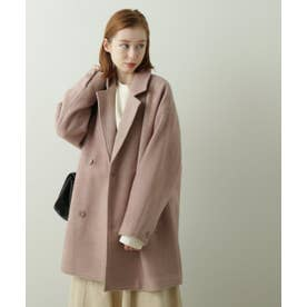 ヘリンボーンゆるジャケットコート (ベージュ)