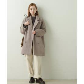 ヘリンボーンゆるジャケットコート (グレー)