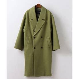 サイドボタンオーバーコート (黄緑)
