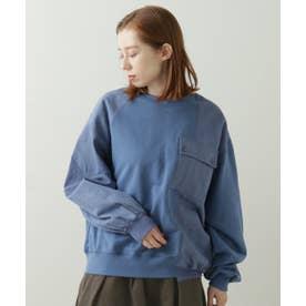 異素材使いポケPO(製品洗い)(C) (ブルー)